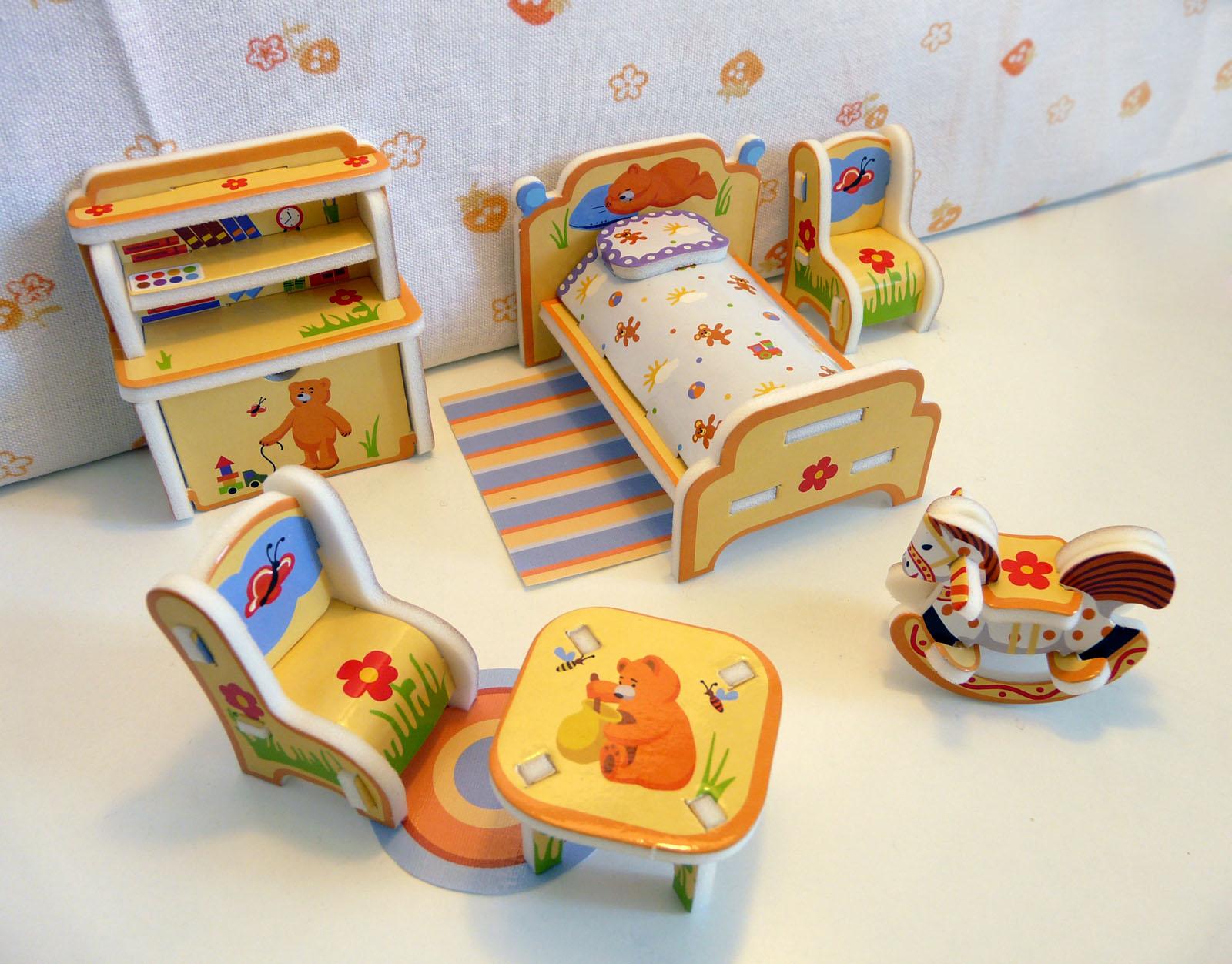 """Объемный пазл. сборная игрушка """"детская мебель"""". материал: к."""